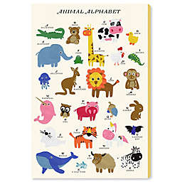 Oliver Gal Home Alphabet 10-Inch x 15-Inch Canvas Wall Art in White