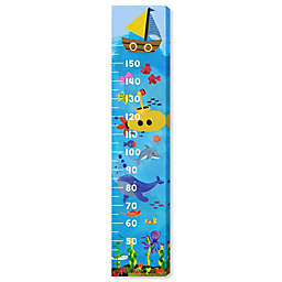 Oliver Gal Home Oceanic 12-Inch x 60-Inch Canvas Growth Chart in Blue
