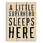 Designs Direct  Superhero Sleeps Here  10.5-Inch x 14-Inch Pallet Wood Wall Art