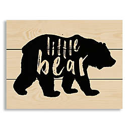 "Designs Direct ""Little Bear"" 10.5-Inch x 14-Inch Pallet Wood Wall Art"