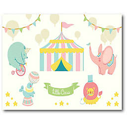"Courtside Market ""Little Circus"" 16-Inch x 20-Inch Canvas Wall Art"