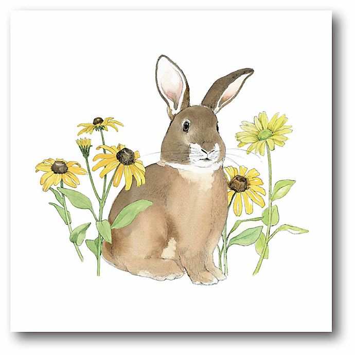 Alternate image 1 for Courtside Market Wildflower Bunnies I 12-Square Canvas Wall Art