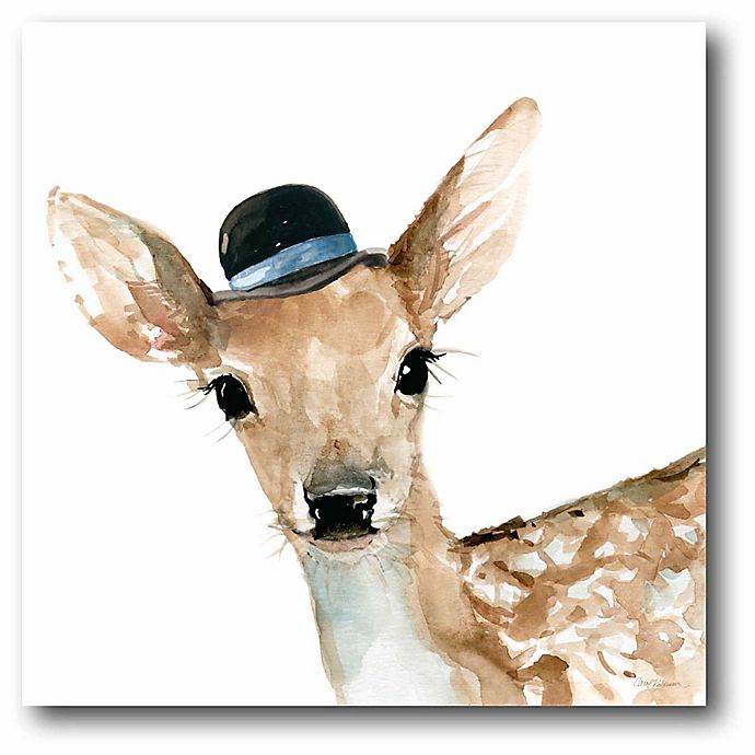 Alternate image 1 for Courtside Market Cute Critter Deer 16-Inch Square Canvas Wall Art