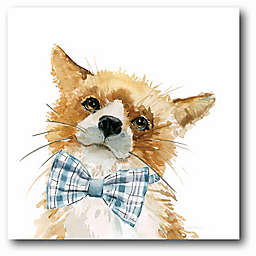 Courtside Market Cute Critter Fox 16-Inch Square Canvas Wall Art