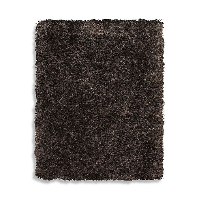 Home Venetian Shag Rug In Chocolate Brown Bed Bath And