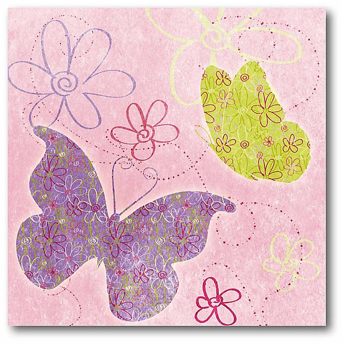 Alternate image 1 for Courtside Market Fly Away I 16-Inch Square Canvas Wall Art in Pink