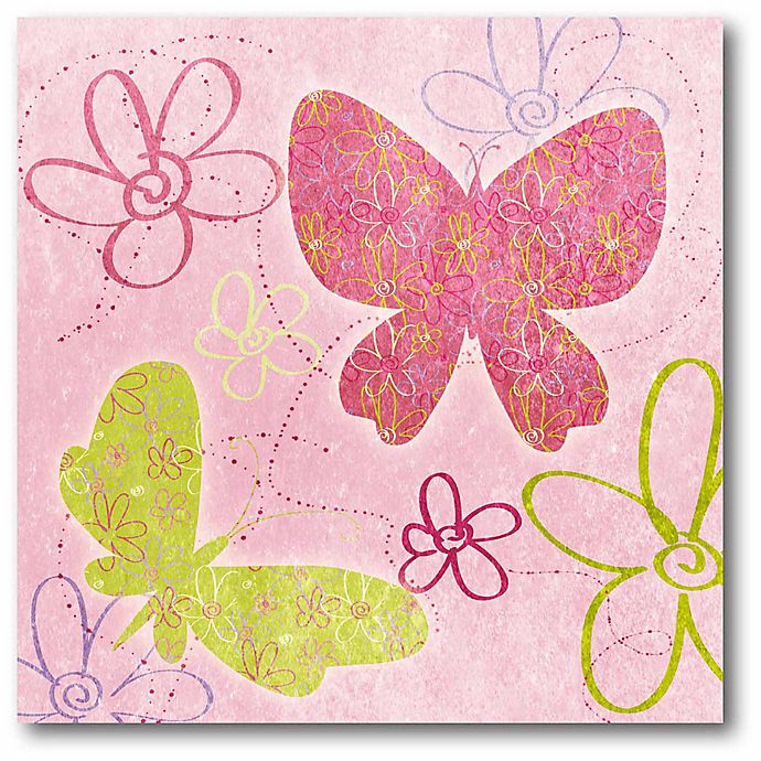 Alternate image 1 for Courtside Market Fly Away II 16-Inch Square Canvas Wall Art in Pink