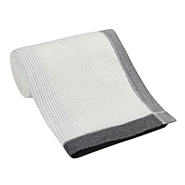 Lambs & Ivy® Border Knit Jersey Blanket in Grey