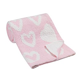 Lambs & Ivy® Hearts Chenille Blanket in Pink