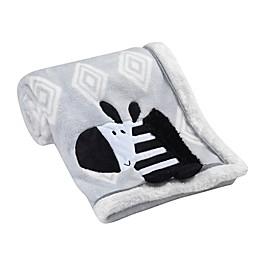 Lambs & Ivy® Zebra Appliqued Blanket in Grey
