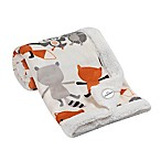 Lambs & Ivy® Fox & Friends Velour Sherpa Blanket in White