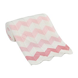 Lambs & Ivy® Chevron Knit Blanket in Pink