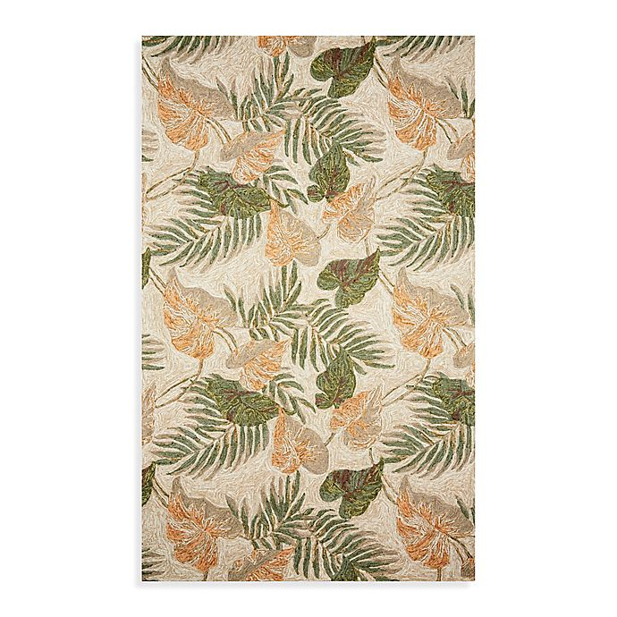 Alternate image 1 for Ravella Tropical Leaf 2-Foot x 7-Foot  Indoor/Outdoor Runner