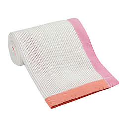Lambs & Ivy® Border Knit Blanket in Pink/Orange