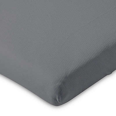 AeroSleep® Fitted Crib Sheet in Dark Grey