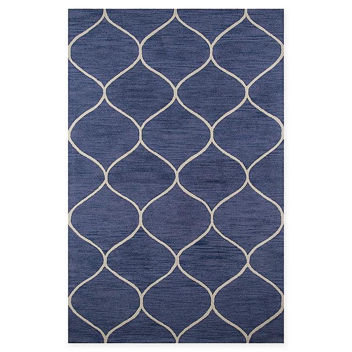 Alternate image 1 for Momeni Newport Trellis 9' x 12' Area Rug in Blue