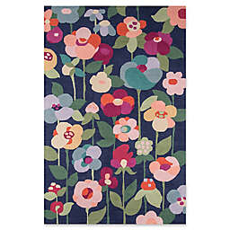 Momeni Newport Floral 9' x 12' Area Rug in Navy