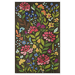 Momeni Newport Floral 9 x 12' Area Rug in Brown