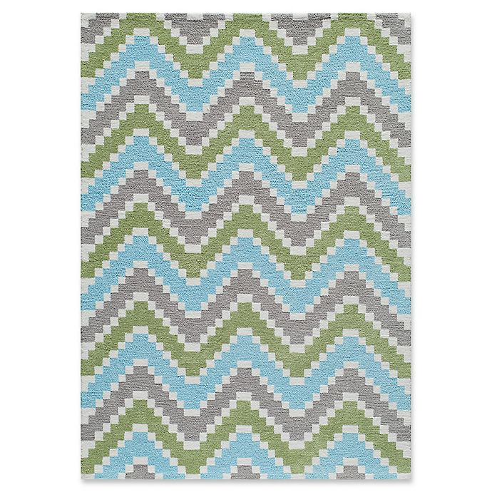 Alternate image 1 for Momeni Heavenly Chevron Multicolor 2' x 3' Accent Rug