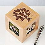 Leaves of Love 4-Photo 2.5-Inch x 2.5-Inch Photo Cube