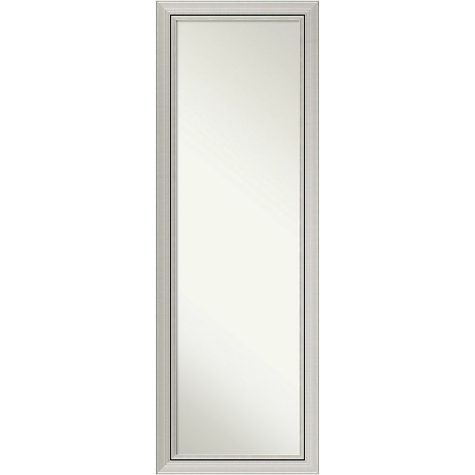 Alternate image 1 for Amanti Art Romano 18-Inch x 52-Inch Framed On the Door Mirror in Nickel/Silver