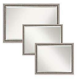 Amanti Art Bel Volto Bathroom Mirror in Silver
