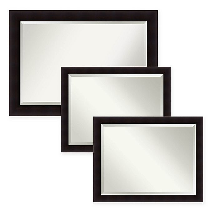 Amanti Art Portico Bathroom Mirror In Espresso Bed Bath Beyond