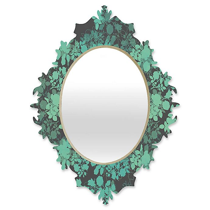 Alternate image 1 for Deny Designs Gabi Audrey Baroque Medium Mirror in Teal