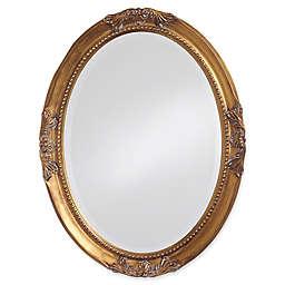 Howard Elliott® 33-Inch x 25-Inch Oval Queen Ann Mirror in Antique Gold