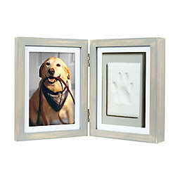 Pearhead® Pet Pawprints 4-Inch x 6-Inch Desk Frame in Distressed Grey