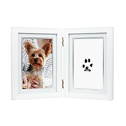 Pearhead® Pet  Pawprints 4-Inch x 6-Inch Desk Frame in White