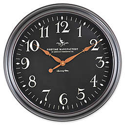 FirsTime® 17.5-Inch Belmont Round Wall Clock in Black