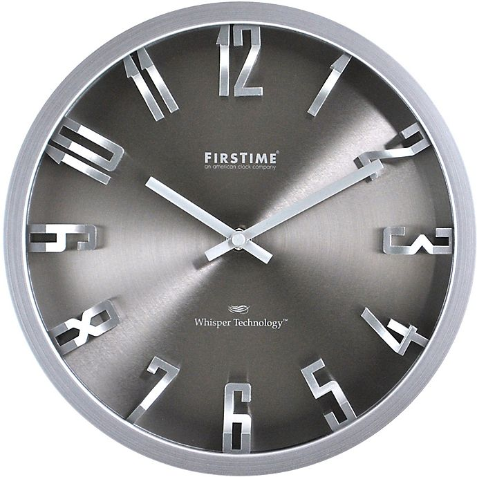 Alternate image 1 for FirsTime® 10-Inch Steel Dimension Round Wall Clock in Silver