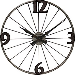 FirsTime® 20-Inch Bicycle Wheel Wall Clock in Iron