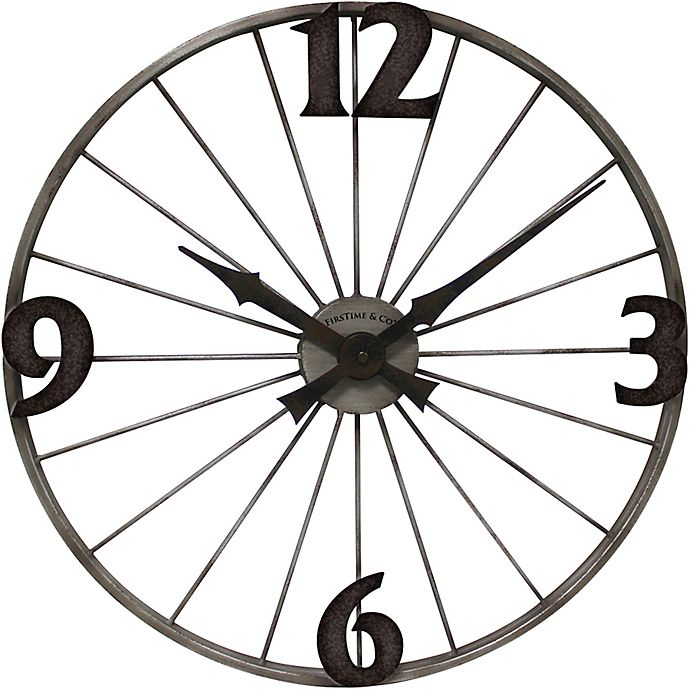 Alternate image 1 for FirsTime® 20-Inch Bicycle Wheel Wall Clock in Iron