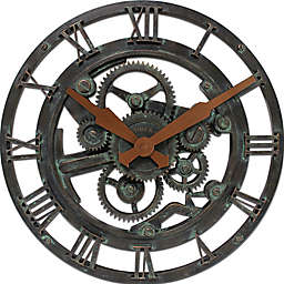 FirsTime® Oxidized Gears Round Wall Clock in Metallic