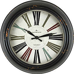 FirsTime® Relic Round Wall Clock in Black