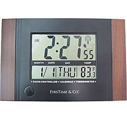 FirsTime® Executive Digital Tabletop Clock in Black
