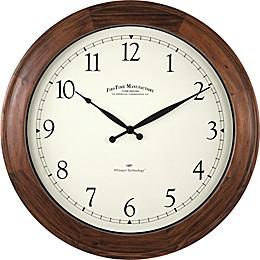FirsTime® Garrison Round Wall Clock in Walnut