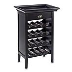 Powell Black Wine Storage Cabinet with Tray