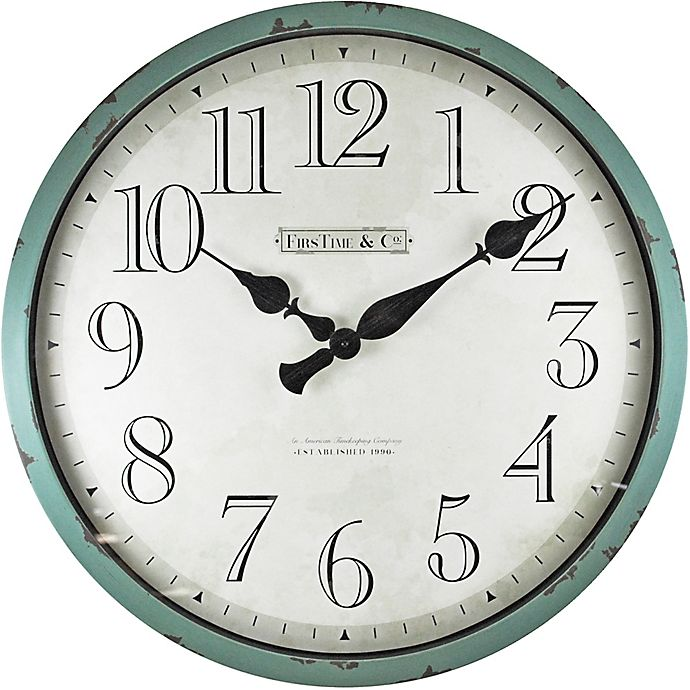 Alternate image 1 for FirsTime® 24-Inch Bellamy Round Wall Clock in Teal
