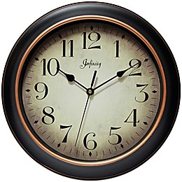 Infinity Instruments 12-Inch Precedent Wall Clock in Black