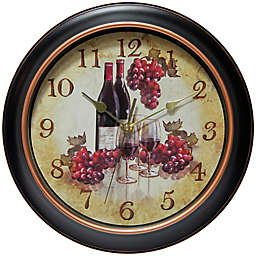 Infinity Instruments 12-Inch Pinot Wall Clock in Black