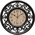 Infinity Instruments 12-Inch Sofia Wall Clock in Brown