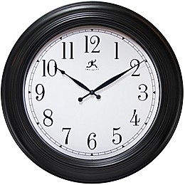 Infinity Instruments 24-Inch Classic Wall Clock in Black