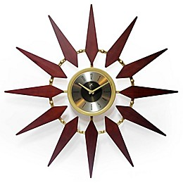 Infinity Instruments 30-Inch Orion Wall Clock in Walnut