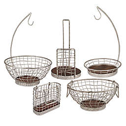 Spectrum Heritage Galvanized Metal Kitchen Accessories Collection