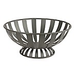 Spectrum™ Stripe Metal Fruit Bowl in Grey