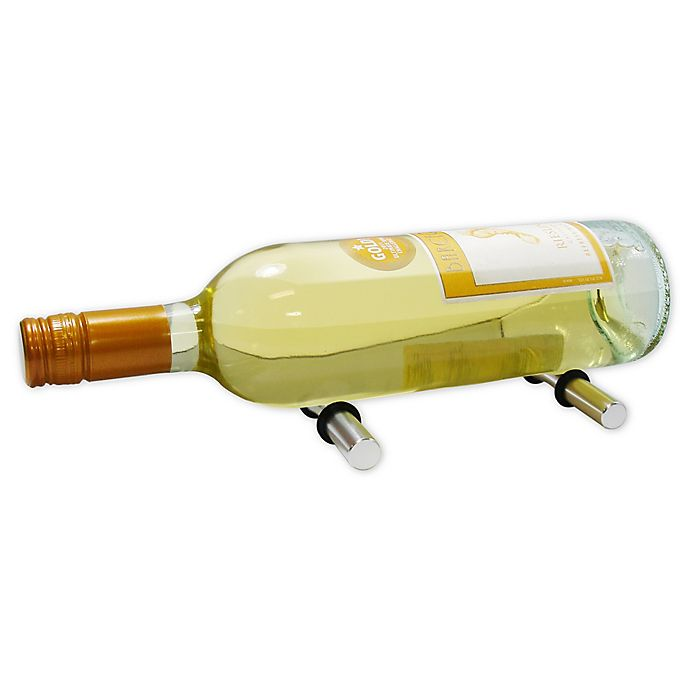 Alternate image 1 for Epicureanist 1-Bottle Secure-Hold Wine Pegs in Silver