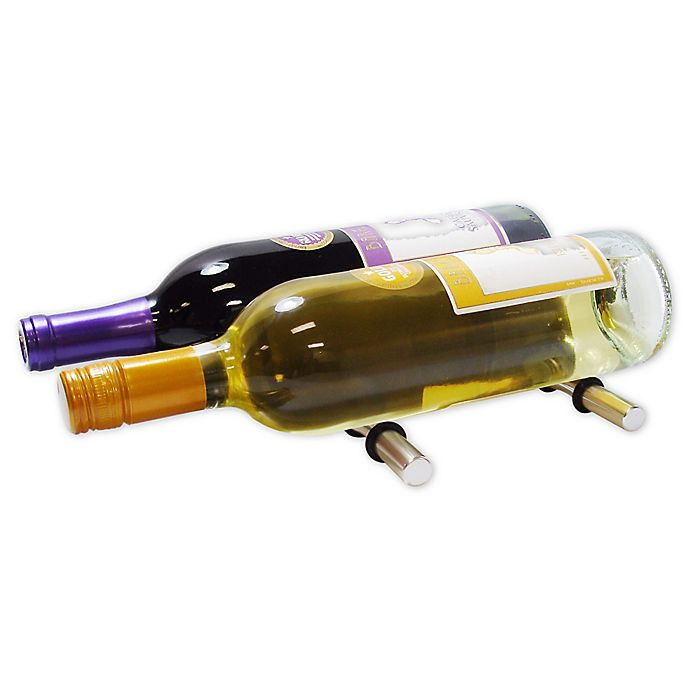Alternate image 1 for Epicureanist 2-Bottle Secure-Hold Wine Pegs in Silver